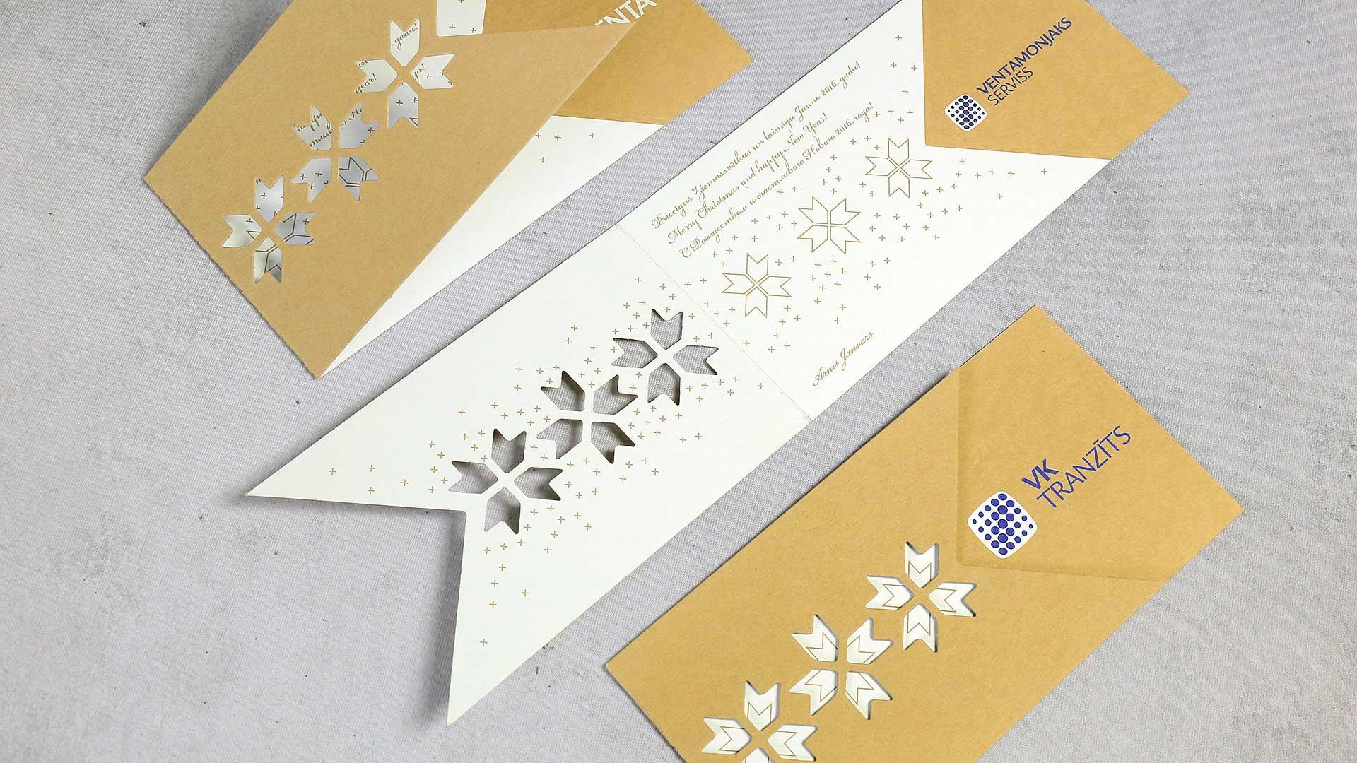 ZIemassvētku kartiņu druka, izgatavošana VK tranzīts