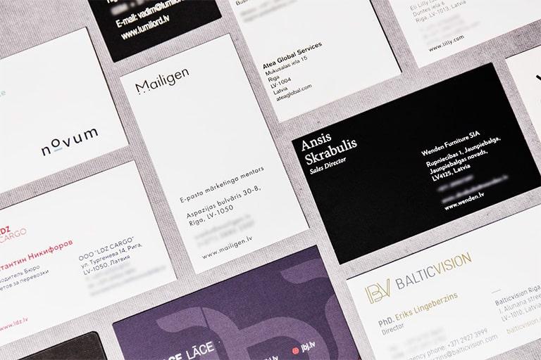 Vizītkartes – mazs, jaudīgs biznesa ierocis