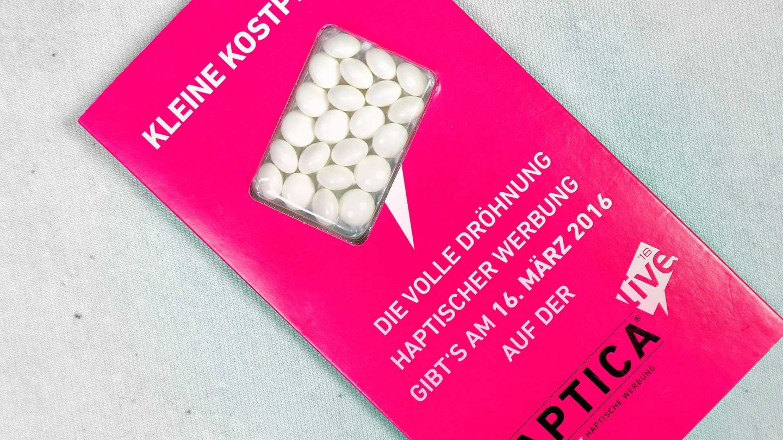Personalizētas konfektes ar reklāmu, logo Aptica
