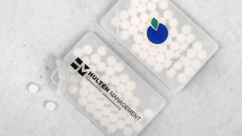 Personalizētas konfektes ar reklāmu, logo Hulten