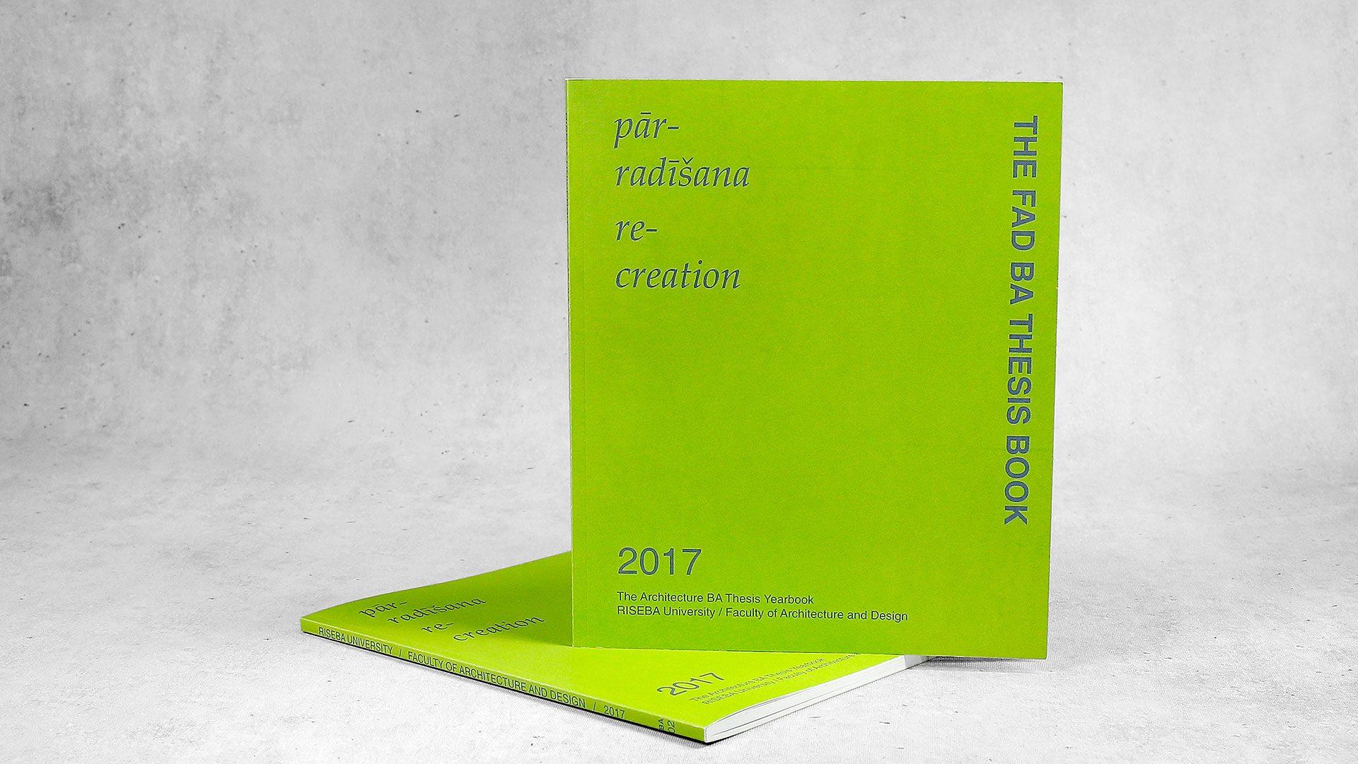 Reklāmas brošūru druka Thesis book