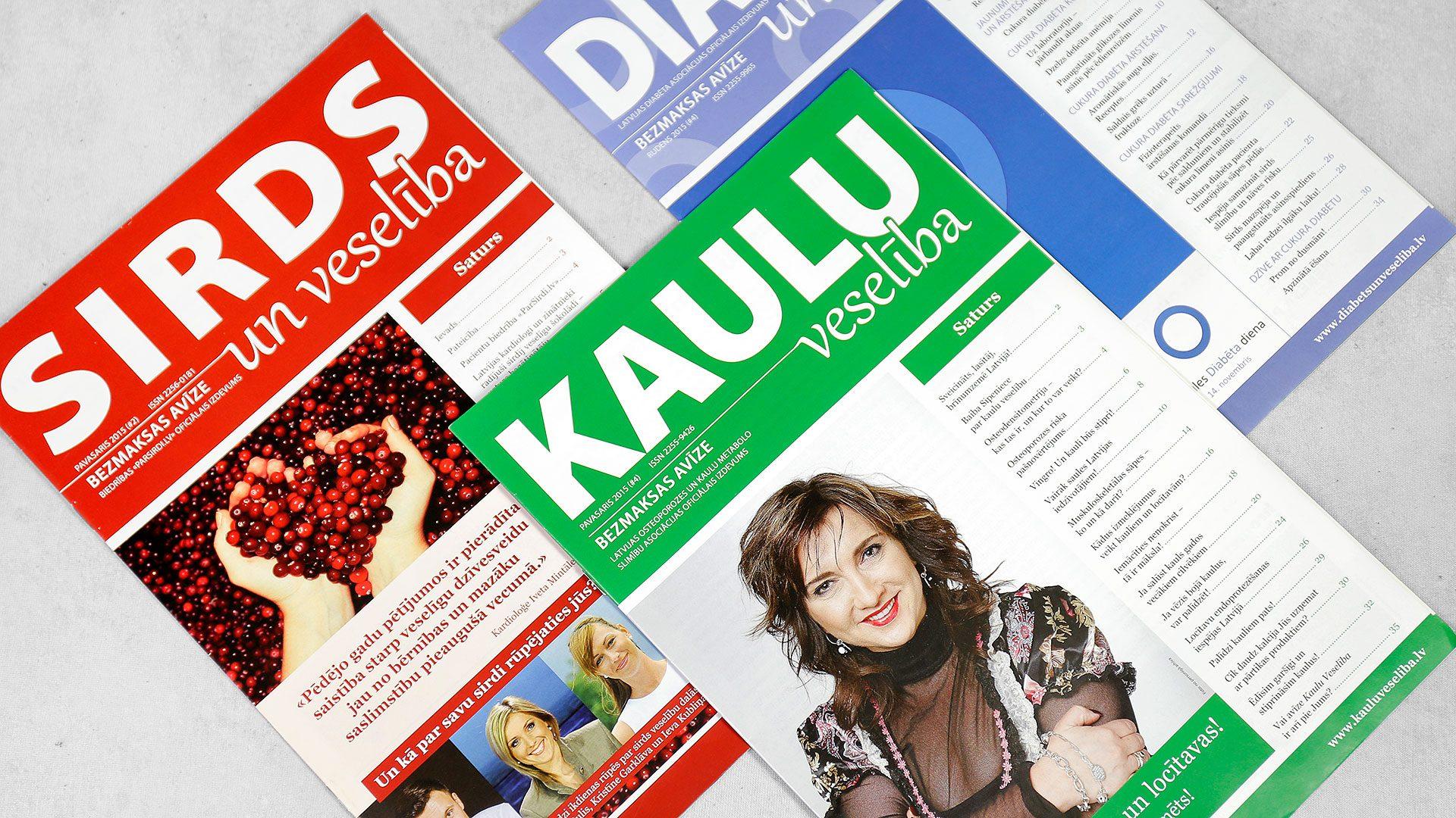 Reklāmas brošūru druka Veselības avīzes