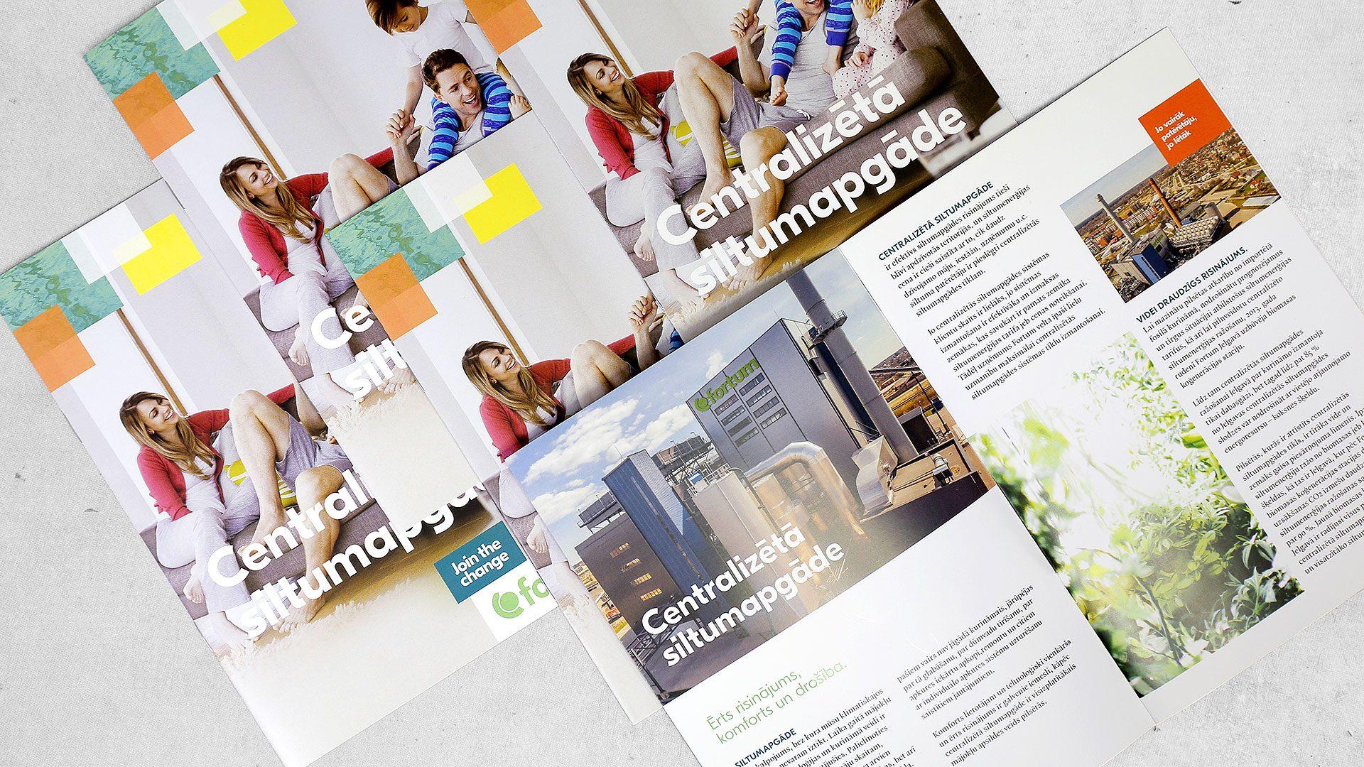 Reklāmas brošūru izgatavošana Fortum atvērums